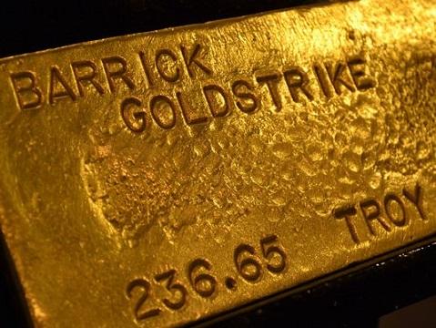 Barrick Gold bars
