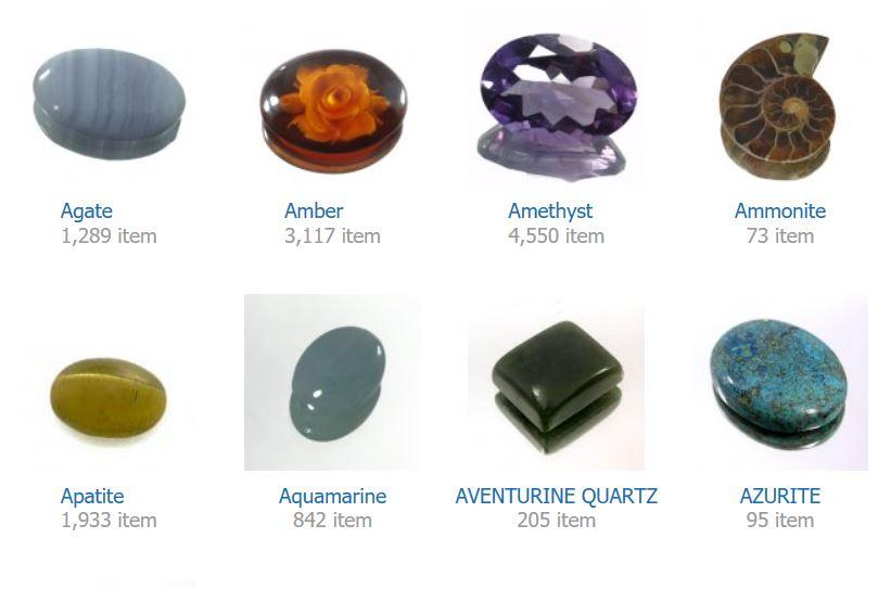 natural precious gem stones in Bangkok Thailand