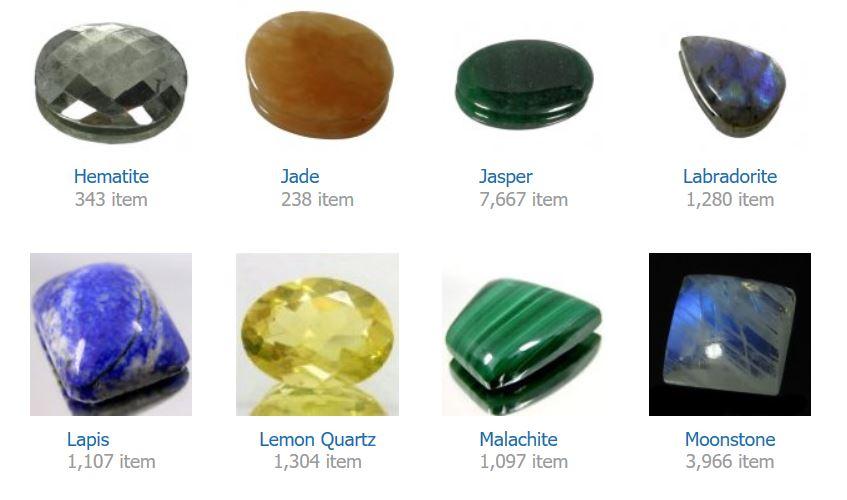 Hematite    Jade    Jasper    Labradorite    Lapis    Lemon Quartz    Malachite    Moonstone
