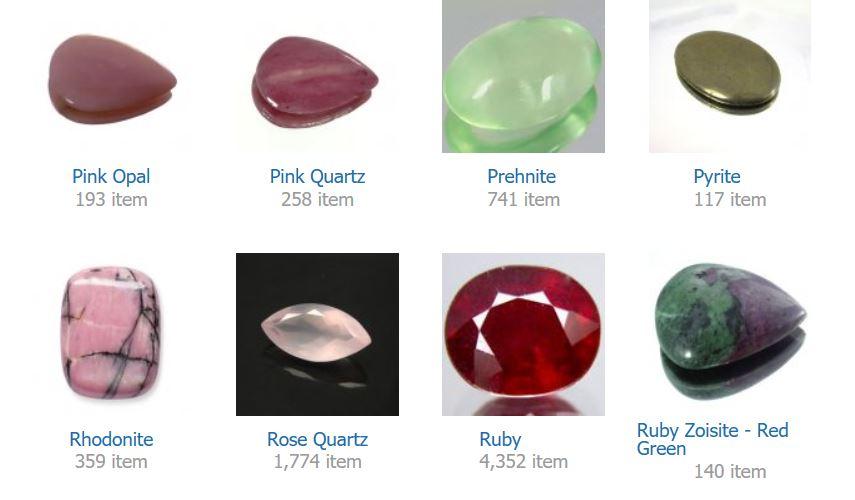 Pink Opal    Pink Quartz    Prehnite    Pyrite    Rhodonite    Rose Quartz    Ruby    Ruby Zoisite - Red Green
